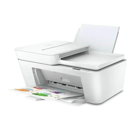 HP DeskJet Plus 4152 All-in-One Printer RENEWED (7FS74A) - WHITE