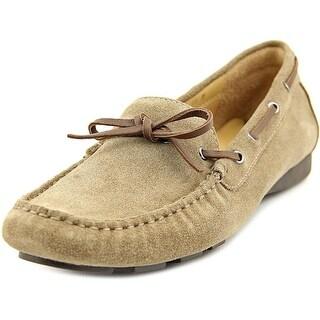 Vaneli Rae Women Moc Toe Suede Tan Boat Shoe