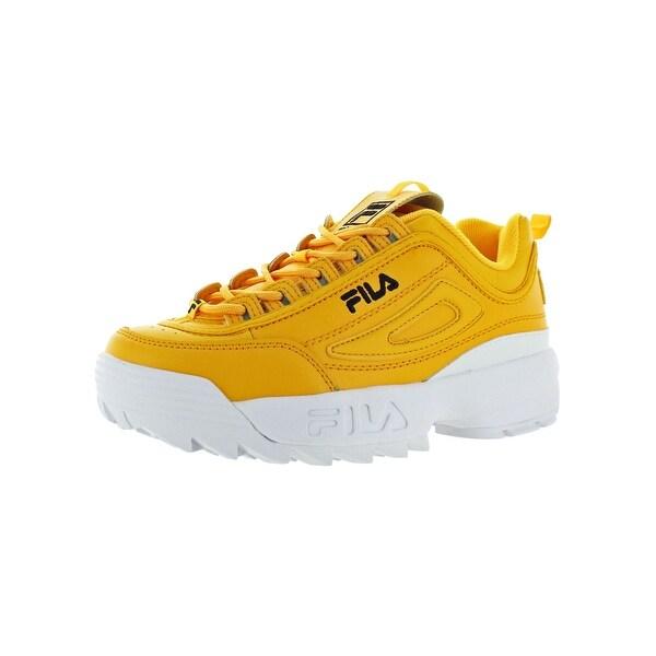 e3b3f00d09394c Fila Womens Disruptor II Premium Fashion Sneakers Leather Padded Insole