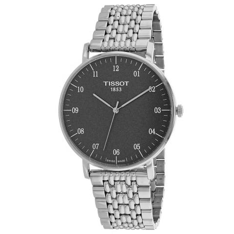 Tissot Men's Everytime Black Dial Watch - T1096101107700