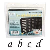 Beadsmith 27 Piece Lowercase Calligraphy Alphabet Letters Punch Set For Metal 3mm