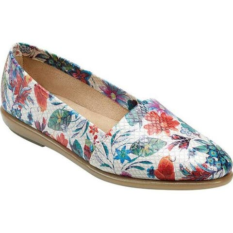 Aerosoles Women's Ms Softee Loafer White Floral Multi Fabric