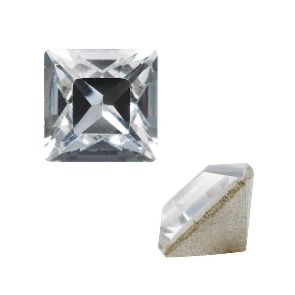 Swarovski Elements Crystal, 4428 Square Fancy Stone 3mm, 10 Pieces, Crystal F