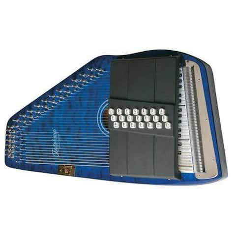 Oscar Schmidt Autoharp 21 Chord Quilt Trans Blue OS21CQTBL
