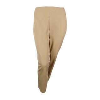 Lauren Ralph Lauren Women's Solid Dress Pants - Tan
