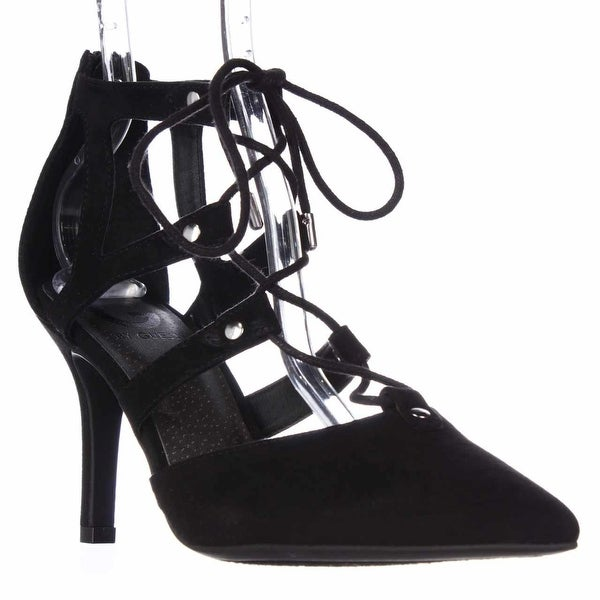 G by Guess Womens Krona Pointed Toe Ankle Strap Classic Pumps