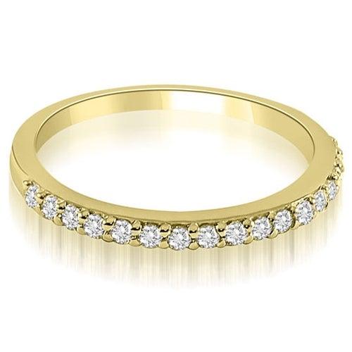 0.11 cttw. 14K Yellow Gold Classic Round Cut Diamond Wedding Band