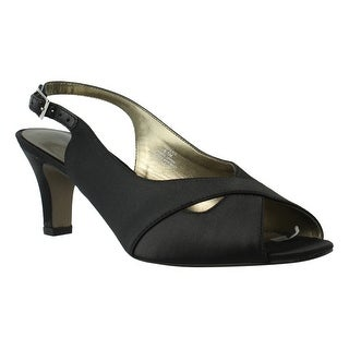 David Tate Womens Palm-001 Black Peep Toe Sandals Size 8