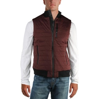 Calvin Klein Mens Outerwear Vest Winter Quilted