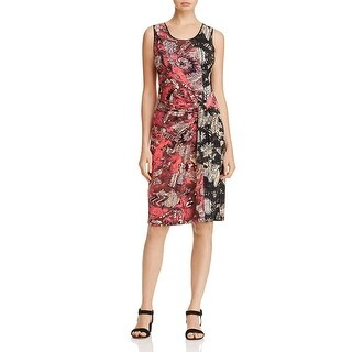 Nic+Zoe Womens Wear to Work Dress Floral Print Faux Wrap