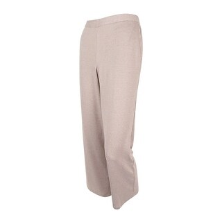 Alfred Dunner Women's Acadia Pull-On Straight-Leg Pants (Fawn, 10P) - Fawn - 10P