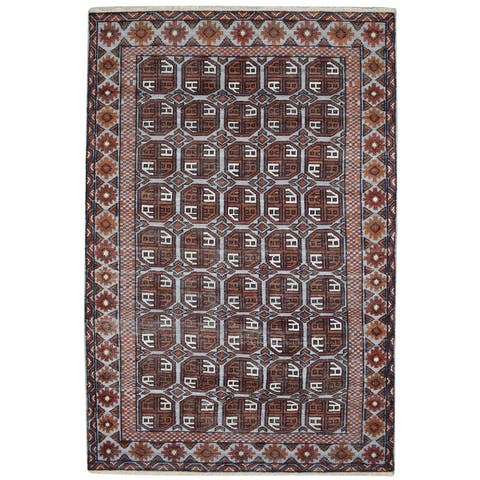 """One of a Kind Hand-Knotted Persian 6' x 9' Oriental Wool Red Rug - 6'0""""x9'1"""""""