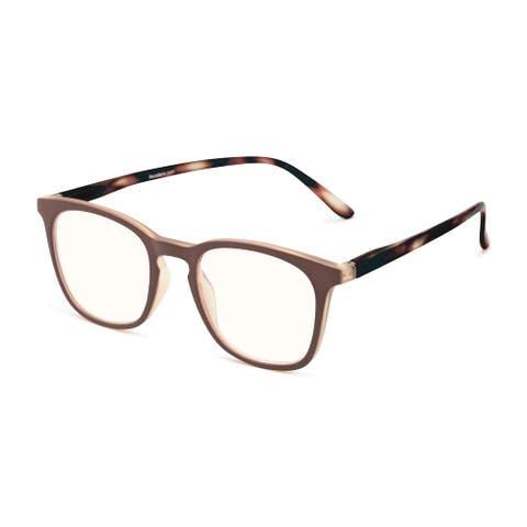 Readers.com The Blaire Blue Light Reader Retro Square Reading Glasses