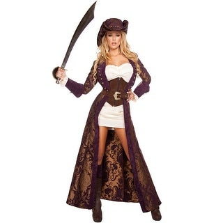Decadent Pirate Diva Costume, Hoty Pirate Costume - as shown
