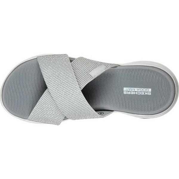 Shop Skechers Women's On The GO 600 Glistening Slide Silver