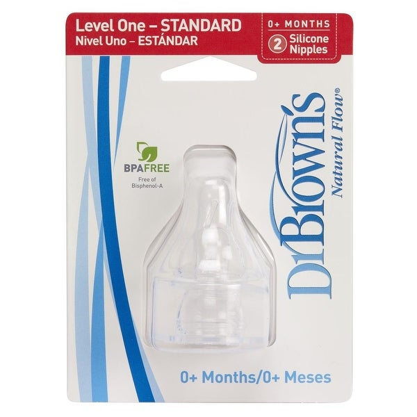 Dr. Brown's Natural Flow Level One Standard Nipple - Clear - newborn