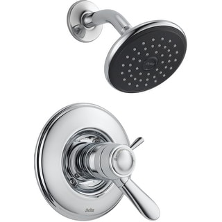 Delta T17T238  Lahara TempAssure 17T Series Dual Function Thermostatic Shower Trim Package with Touch Clean Shower Head and
