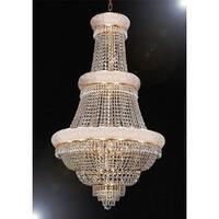 Swarovski Crystal Trimmed Chandelier Lighting With 21 Lights Gold 3-Tier Chandelier Lighting