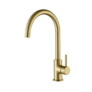 Link to Lead Free Solid Brass High Arc Single Level Bar Prep Kitchen Faucet with Single Handle Similar Items in Faucets