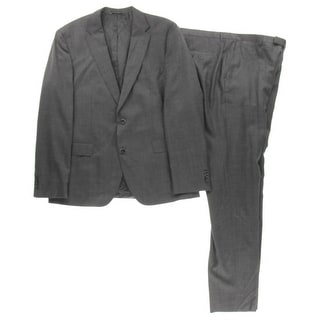 BOSS Hugo Boss Mens Jewels/Linus 2PC Wool Two-Button Suit - 44R