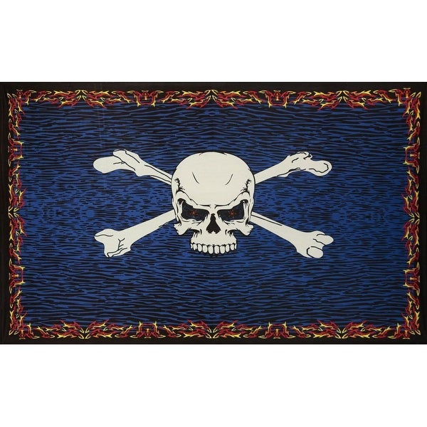Shop Cotton 3d Glow In The Dark Fire Bones Tapestry Wall Hanging