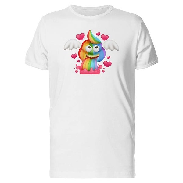 f9cd0a48e0 Rainbow Poop Vomiting Emoji Tee Men's -Image by Shutterstock