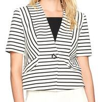Nine West NEW Black Women's Size 6 Toggle-Button Striped Jacket