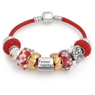 Bling Jewelry Sterling Silver Together Forever Bead Bracelet