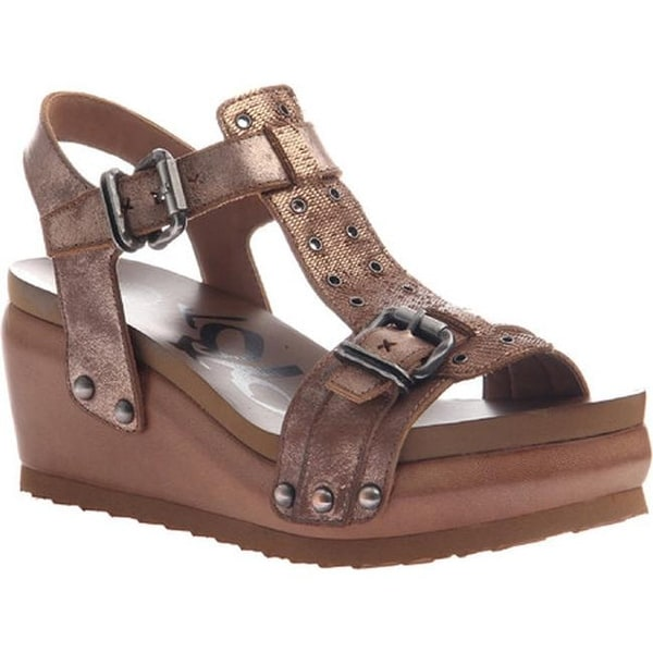 a2c0052ee7b9 Shop OTBT Women s Caravan T-Strap Sandal Copper Leather - Free Shipping  Today - Overstock.com - 14371762