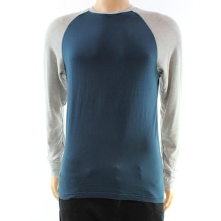 Red Jacket NEW Blue Grey Heather Mens Size Small S Baseball Tee T-Shirt