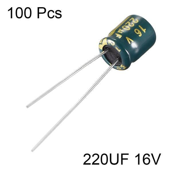 2 pcs 16V 220UF 6x7mm Standard SMD Super Low ESR Aluminum Solid Capacitor