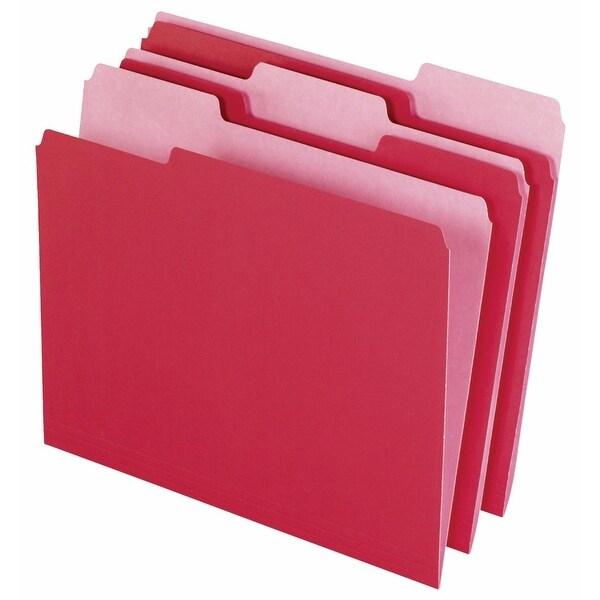 Medium Weight Stock 1-3 Cut Recycled Top Tab File Folder,