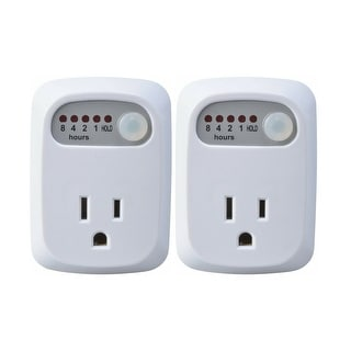 Link to Simple Touch Auto Shut-Off Power Outlet for Curling Iron, Hair Straightener, iPhone, Android, Laptops - Countdown Timer (2 Pack) Similar Items in Electrical