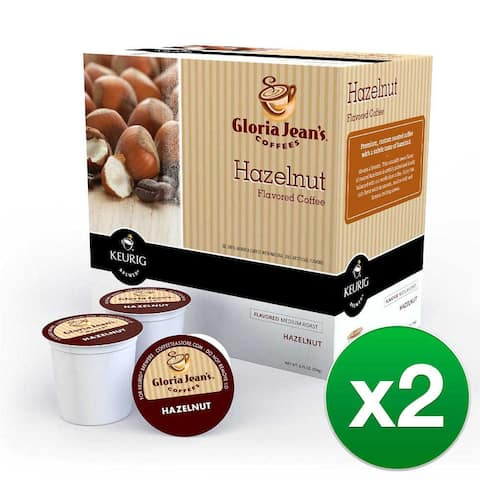 Gloria Jean's Coffees Hazelnut, 1 Serve Coffee K-Cup Pod, Flavored Coffee, 36