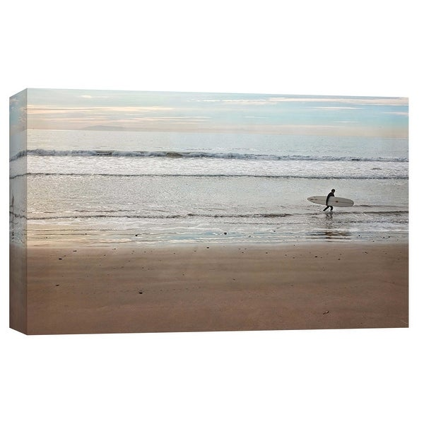 "PTM Images 9-102247 PTM Canvas Collection 8"" x 10"" - ""Surfer Dude"" Giclee Beaches and Waves Art Print on Canvas"
