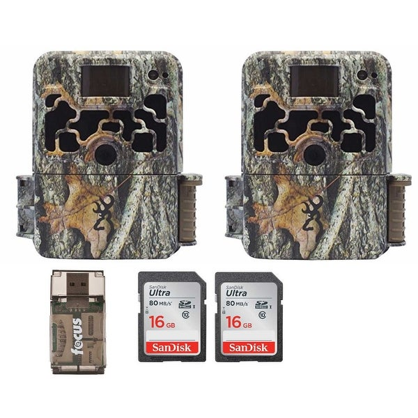 Browning Dark Ops Extreme 16MP Trail Cameras (2) with SD Cards (2) and Reader - Camouflage