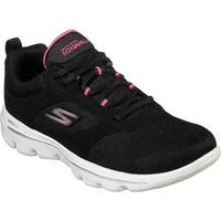Skechers Women's GOwalk Evolution Ultra Enhance Walking Shoe Black/Pink