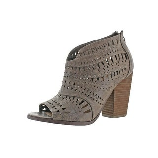 Not Rated Womens Get It Girl Ankle Boots Peep Toe Laser Cut
