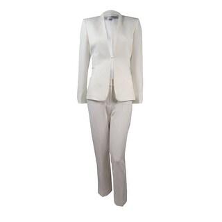 Tahari Women's Petite Nathan Crepe Pant Suit - 0p