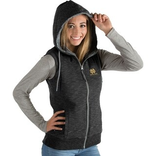 University of Notre Dame Ladies Blitz Heather Jersey Hooded Vest