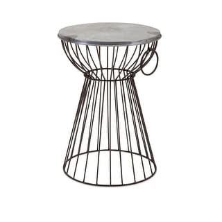 20 Stool Stacy Galvanized Iron Stool or Side Table