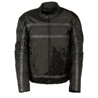 Mens Textile Reflective Stripe Racer Jacket