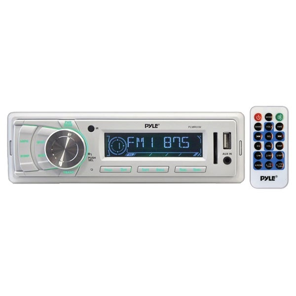 Pyle Marine Receiver AM/FM/MP3/USB/Weatherband White Mechless