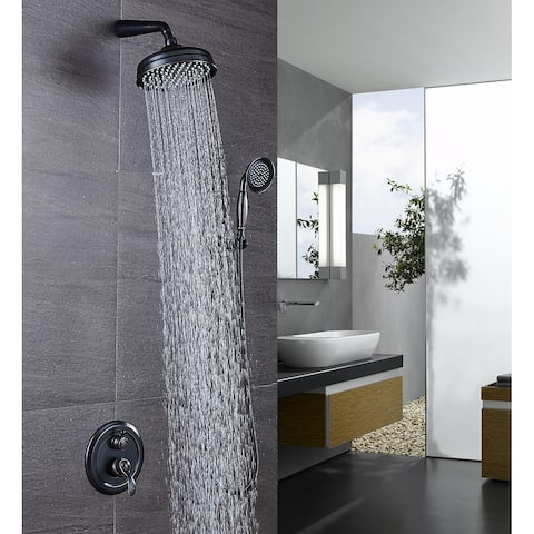 Shower Faucet System Combo Kit with Head in Bronze (Valve Included)