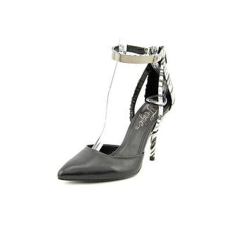 Fergie Jazz Women Pointed Toe Leather Black Heels