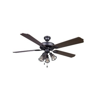 Canarm CF52OTT5 (OTTO) Otto 3 Light 5 Blade Hanging Ceiling Fan - Graphite