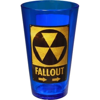 Fallout Toxic Waste 16oz Blue Drinking Pint Glass