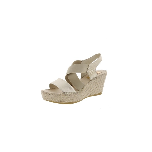 Vidorreta Womens Sybil Wedge Sandals Metallic Platform - 39 medium (b,m)