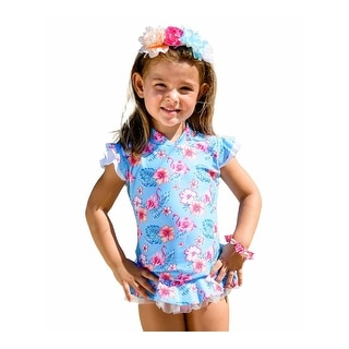 Link to Sun Emporium Little Girls Pink Coco Flamingo Rash Guard Nappy Cover 2 Pc Set Similar Items in Girls' Clothing