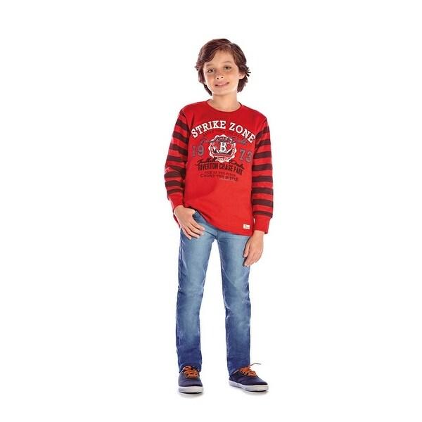 Boys Sweatshirt Long Sleeve Shirt Kids Graphic Tee Winter Pulla Bulla 2-10 Years